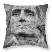 Washington And Setting Moon Bw Throw Pillow