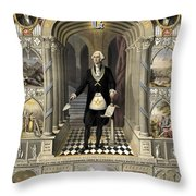Washington As A Freemason Throw Pillow