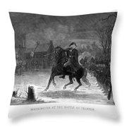 Washington At The Battle Of Trenton Throw Pillow