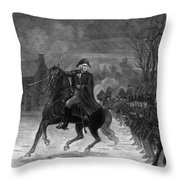 Washington At The Battle Of Trenton Throw Pillow by War Is Hell Store