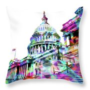 Washington Capitol Color 1 Throw Pillow