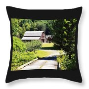 Washington Country Barn Throw Pillow