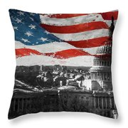 Washington Dc 56t Throw Pillow
