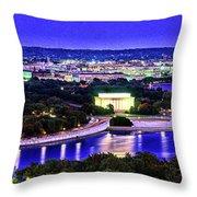 Washington Dc Dusk Throw Pillow