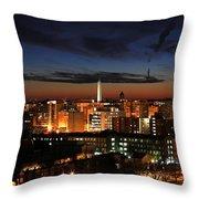 Washington Monument Night Sky Throw Pillow