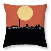 Washington Dc Skyline Minimalism 3 Throw Pillow