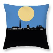 Washington Dc Skyline Minimalism 4 Throw Pillow