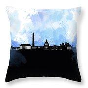 Washington Dc Skyline Minimalism 8 Throw Pillow