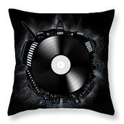 Washington Dc Skyline Vinyl 10 Throw Pillow