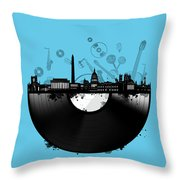Washington Dc Skyline Vinyl 2 Throw Pillow