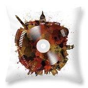 Washington Dc Skyline Vinyl 7 Throw Pillow