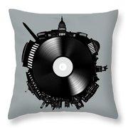 Washington Dc Skyline Vinyl 8 Throw Pillow