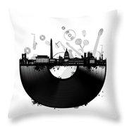 Washington Dc Skyline Vinyl Throw Pillow