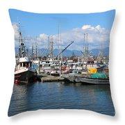 Washington Harbor Throw Pillow
