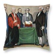 Washington: Inauguration Throw Pillow