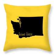 Washington Is Home Base Black Throw Pillow