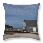 Washington Island Harbor 1 Throw Pillow