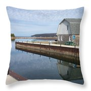 Washington Island Harbor 2 Throw Pillow