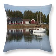 Washington Island Harbor 4 Throw Pillow