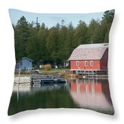 Washington Island Harbor 6 Throw Pillow
