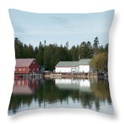 Washington Island Harbor 7 Throw Pillow