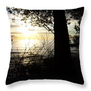 Washington Island Morning 1 Throw Pillow