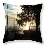 Washington Island Morning 2 Throw Pillow