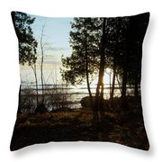 Washington Island Morning 3 Throw Pillow
