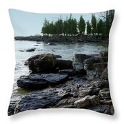 Washington Island Shore 1 Throw Pillow