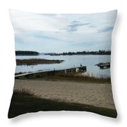 Washington Island Shore 2 Throw Pillow