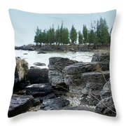 Washington Island Shore 3 Throw Pillow