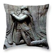 Washington Kneeling In Praying Throw Pillow