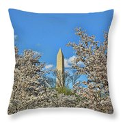 Washington Monument # 11 Throw Pillow