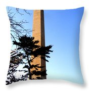 Washington Monument At Dusk Throw Pillow