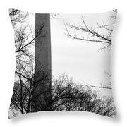Washington Monument Bw Throw Pillow