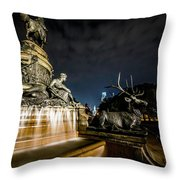 Washington Monument Fountain Throw Pillow