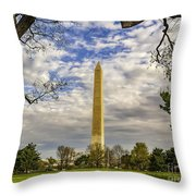 Washington Monument From The Mall Throw Pillow