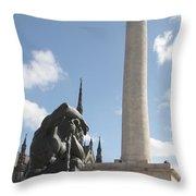 Washington Monument In Baltimore Throw Pillow