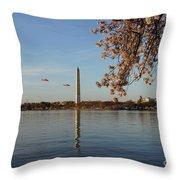 Washington Monument Throw Pillow