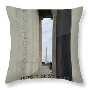 Washington Monuments Travel Throw Pillow