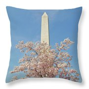 Washington Mounument Throw Pillow