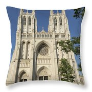 Washington National Cathedral Front Exterior Throw Pillow