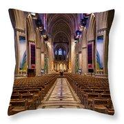Washington National Cathedral Interior Throw Pillow