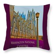 Washington National Cathedral Travel Throw Pillow