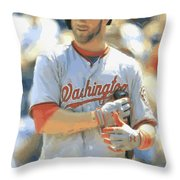 Washington Nationals Bryce Harper Throw Pillow