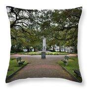 Washington Park, Charleston, Sc Throw Pillow
