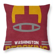 Washington Redskins Vintage Art Throw Pillow