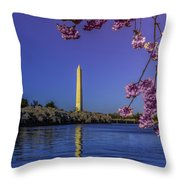 Washington Reflection And Blossoms Throw Pillow