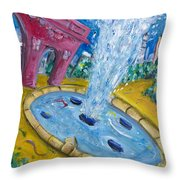 Washington Sqaure Park Throw Pillow