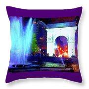 Washington Square Fountain 13c Throw Pillow